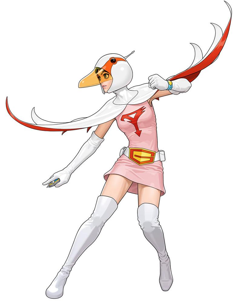 G Force Cartoon Characters : 白鳥のジュン しらとりのじゅん science ninja team gatchaman アニキャラベー