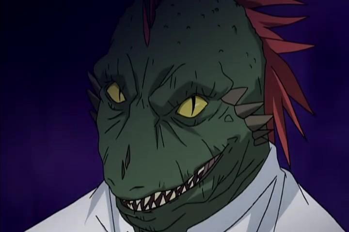 Anime Characters Vampire : Tadashi wanibuchi monster form rosario vampire